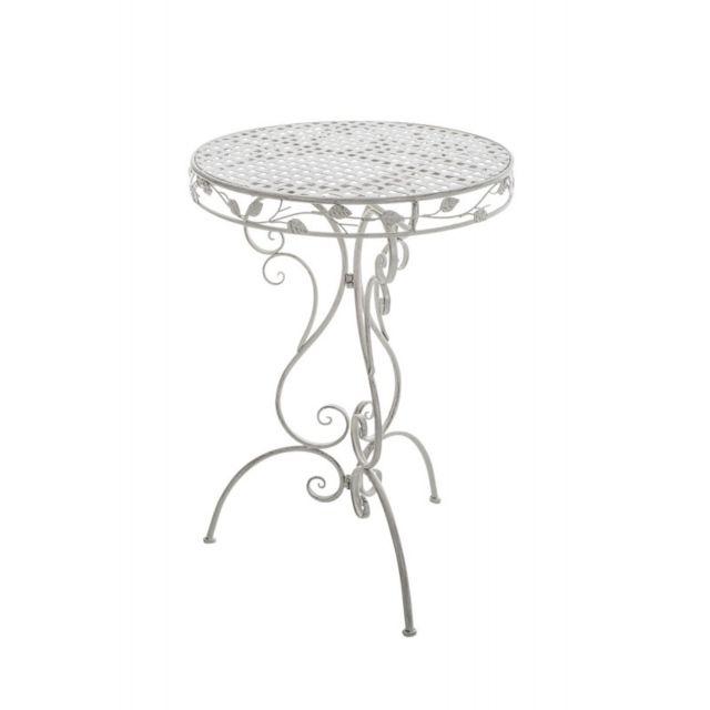 Decoshop26 - Table de jardin en fer forgé diamètre Ø 70 cm ...