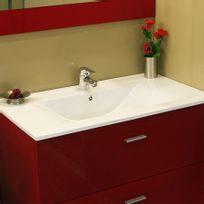Creazur - Plan simple vasque céramique CÉRAPLAN - 70 cm