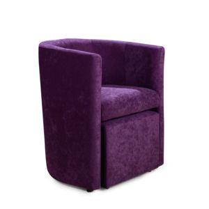 alin a clap fauteuil style cabriolet avec pouf rev tement microfibre prune pas cher achat. Black Bedroom Furniture Sets. Home Design Ideas
