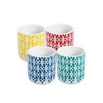 Typhoon - Tasses à café/thé en porcelaine 20cl Multicolore - Coffret de 4 pièces Lotus