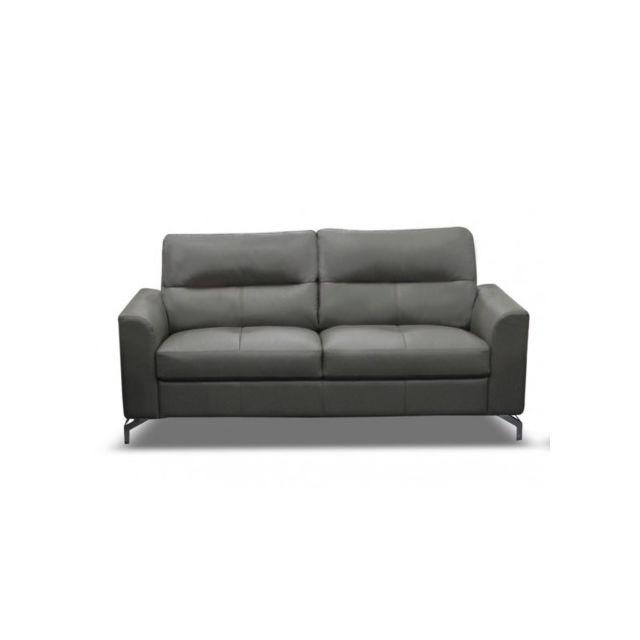 marque generique canap 2 places edori en cuir de buffle. Black Bedroom Furniture Sets. Home Design Ideas