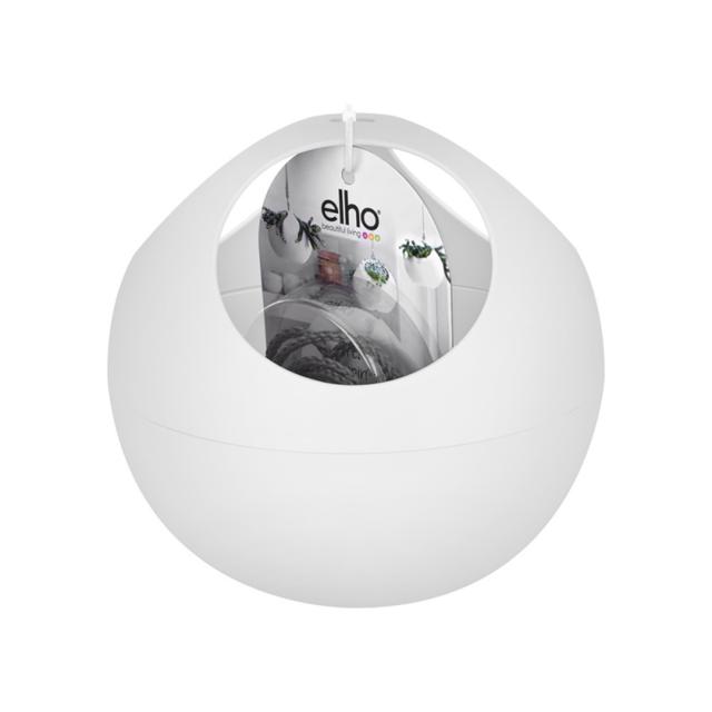 Elho - Suspension en forme de boule cache pot blanche pour la ...