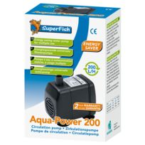 Superfish - Pompe à Eau Aqua-Power pour Aquarium - 200 L/H