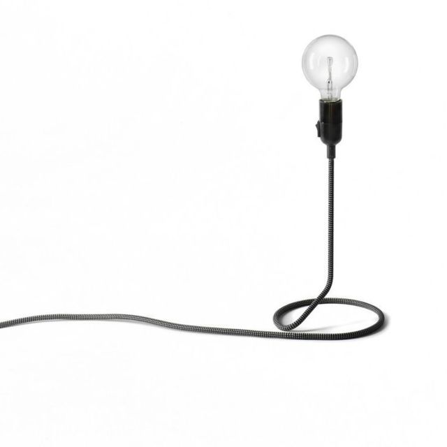 Design House Stockholm Cord-lampe à poser H48cm Noir Design Stockholm House - designé par Form Us With Love
