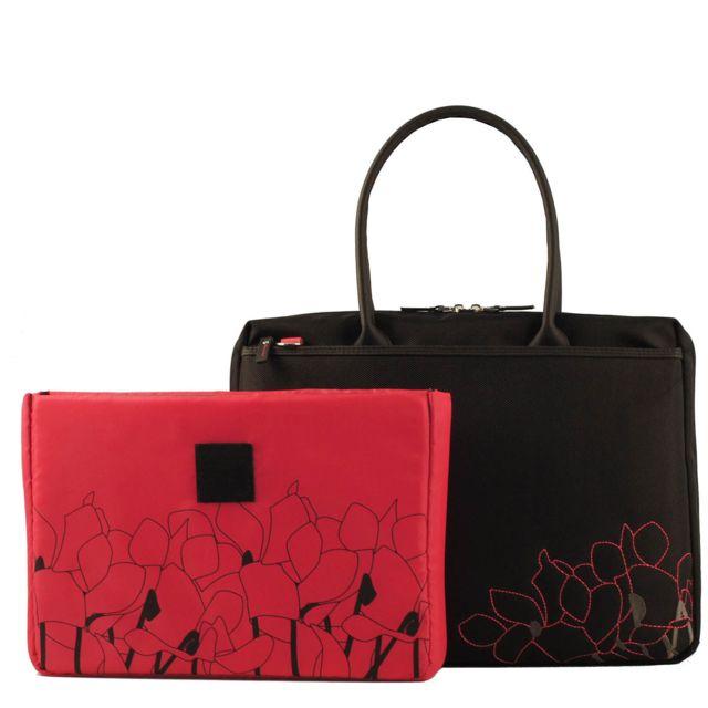 ff95a0073c MOBILIS - Housse Lady Bag Cyclamen pour ordinateur portable 14/16 pouces -  Noire