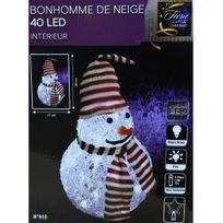 Jja - Bonhomme de neige lumineux avec bonnet et écharpe