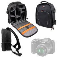 Duragadget - Sac à dos noir pour Nikon D3200, Coolpix L330, D5300, D3300