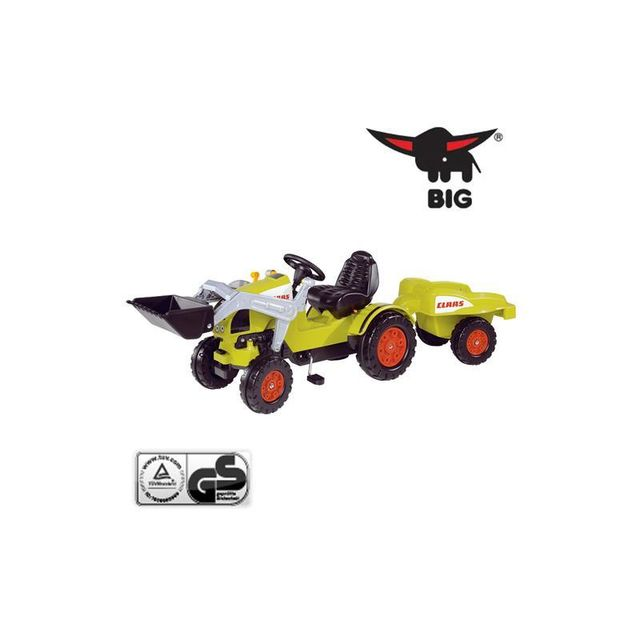Big 800056553 Tracteur Claas avec pelleteuse et remorque