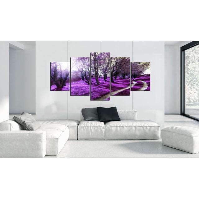 200x100 Tableau Forêt Paysages Moderne Verger de lavande