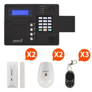 atlantic 39 s st v alarme maison sans fil gsm application smartphone kit 2 pas cher achat. Black Bedroom Furniture Sets. Home Design Ideas