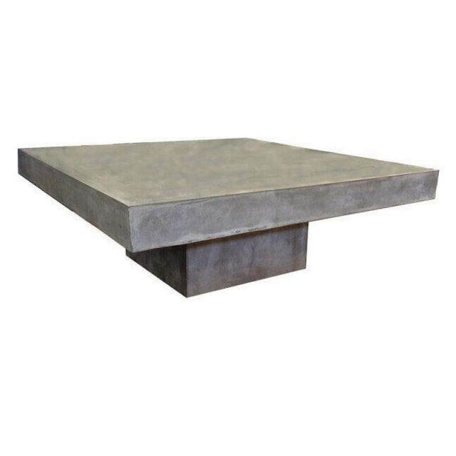 Mathi Design Beton - Table basse carrée en béton