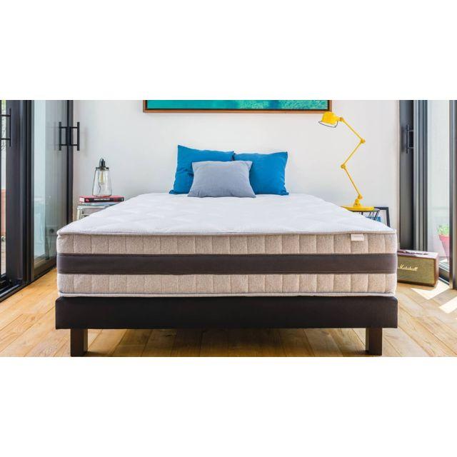 hbedding ensemble matelas m moire sommier 90x190 memo luxe mousse haute densit m moire. Black Bedroom Furniture Sets. Home Design Ideas