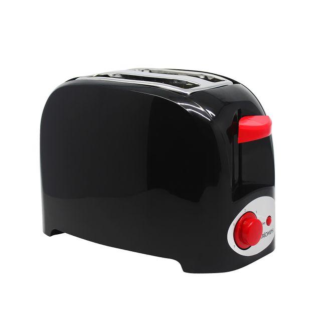 Triomph Grille-pain 750W Noir et Rouge - 2 fentes - 7 positions