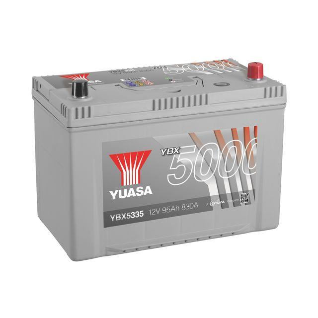 yuasa batterie ybx5335 silver 12v 95ah 830a pas cher achat vente batteries rueducommerce. Black Bedroom Furniture Sets. Home Design Ideas