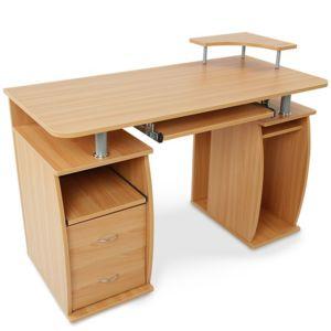 miadomodo bureau avec tablette coulissante pour clavier 4 couleurs noir pas cher achat. Black Bedroom Furniture Sets. Home Design Ideas