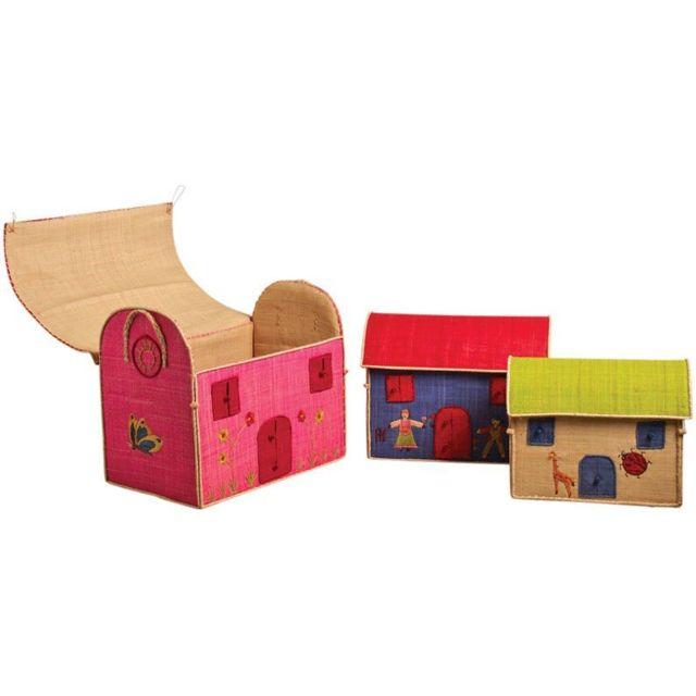 AUBRY GASPARD Coffres à jouets colorés Lot de 3