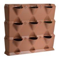 Minigarden - Vertical - Kit de Jardin Végétal Vertical Terracotta à 3 niveaux - 9 modules