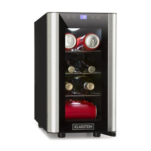 KLARSTEIN Vinovista Picollo Réfrigérateur à boissons 24 litres 8 bouteilles LED