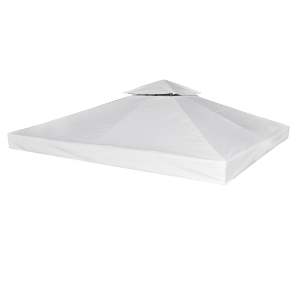 Rocambolesk - Superbe Toile de Rechange pour Pergola Gazebo Blanc 270 g / m² neuf