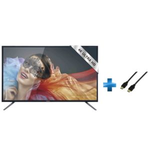 TRC55UHDP – TV LED – Ultra HD 4K + Cordon HDMI 1.4 - 1.5 mètres_0