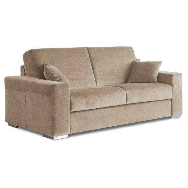 inside 75 le diva canap convertible easy ouverture rapido 160 200cm microfibre beige 92cm x. Black Bedroom Furniture Sets. Home Design Ideas