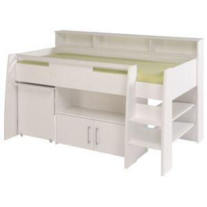soldes last meubles lit combin avec bureau et rangement 90x200cm hypnos blanc pas cher. Black Bedroom Furniture Sets. Home Design Ideas