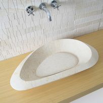 Capri - Vasque ovale Eral Scala Beige