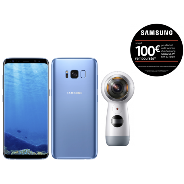 Samsung - Galaxy S8 - 64 Go - Bleu Océan + Camera Samsung Gear 360 pour f5e55dbb3e42