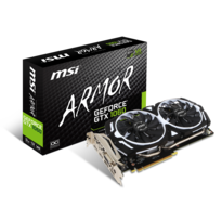 MSI - GeForce GTX 1060 ARMOR 3Go DDR5 OCV1