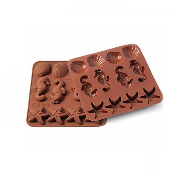 Silikomart Moule en silicone - chocolats Vie sous-marine