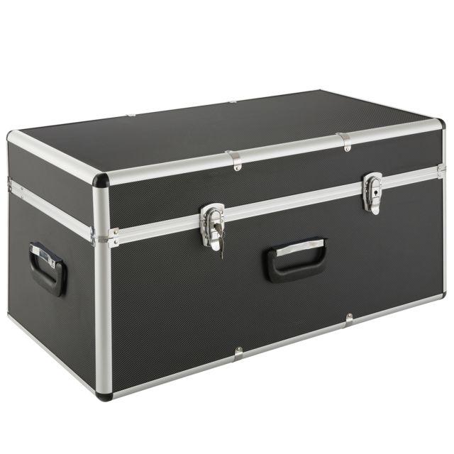 Arebos - Coffre en aluminium Coffre de transport Caisse de rangement 100 L - pas cher Achat ...