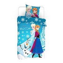 La Reine Des Neiges - Parure de lit Reine des Neiges Flocons Frozen