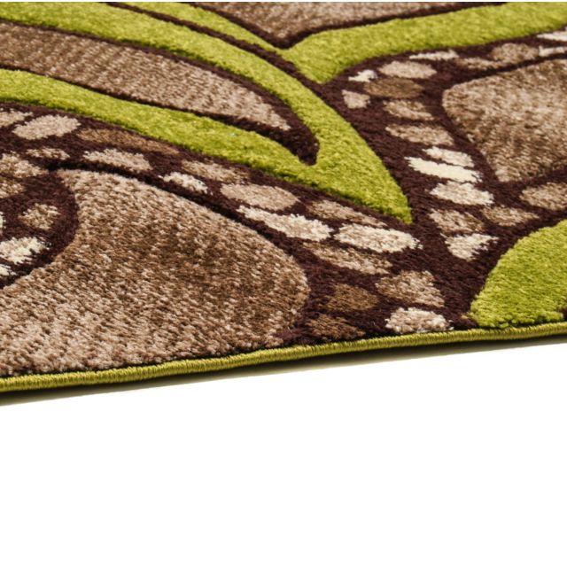 Flora Carpets Tapis De Couloir Moderne Et Frisé 80x150 Brun F