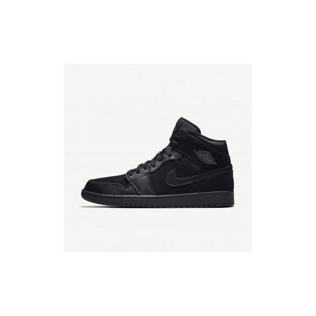 uk availability bb1c2 2c4d1 Nike - Air Jordan 1 Mid - Age - Adulte, Couleur - Noir, Genre - Homme,  Taille - 40,5 - pas cher Achat  Vente Chaussures basket - RueDuCommerce