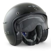 Harisson - casque jet moto scooter fibre noir brillant - Ca101 Xl