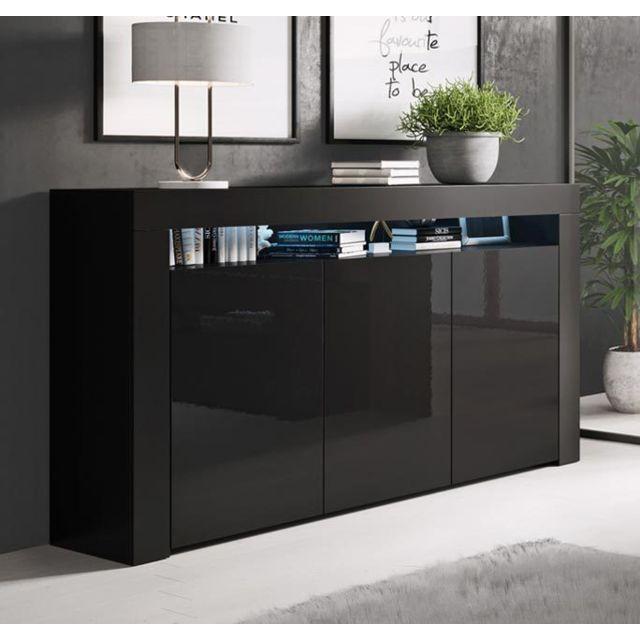 Design Ameublement Bahut modèle Aker couleur noir