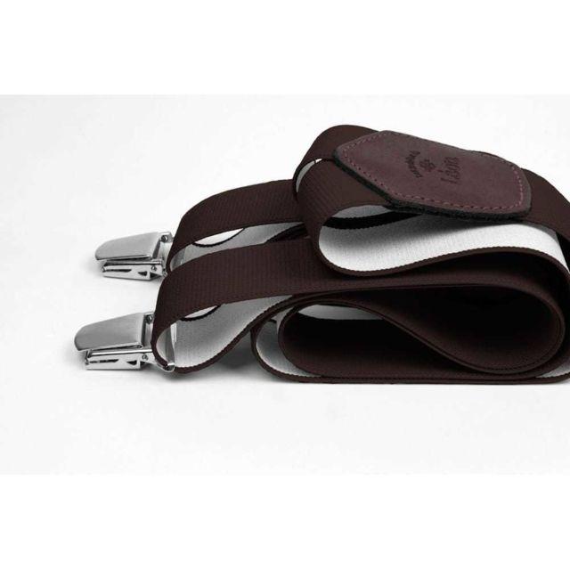 Les Bretelles De LÉON Bretelles Larges Marron des Champions - Les Bretelles de Léon