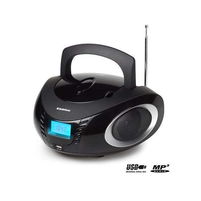 totalcadeau radio cd mp3 usb avec r veil portable radio. Black Bedroom Furniture Sets. Home Design Ideas