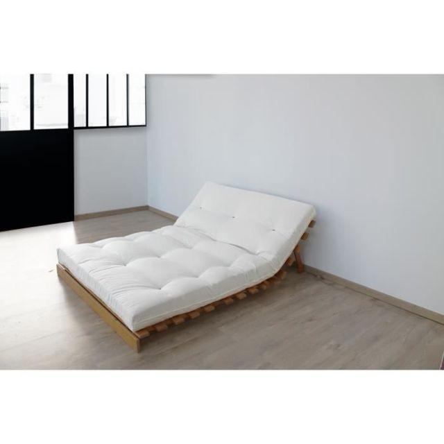 MATELAS Matelas 160 x 200 - Futon - 15 cm - Ferme et Equilibré - Ecru