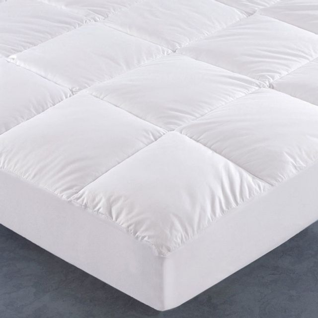 100pourcentcoton surmatelas 140x190 cm percale de coton. Black Bedroom Furniture Sets. Home Design Ideas