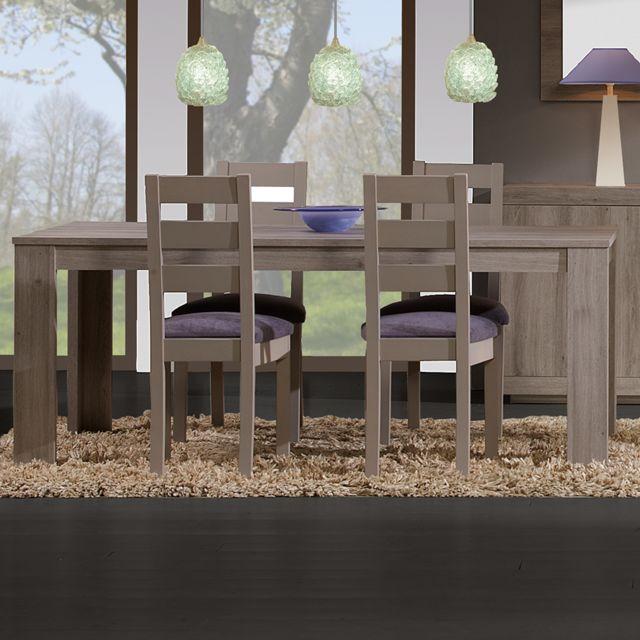 Kasalinea Table à manger 190 cm couleur chêne Elise
