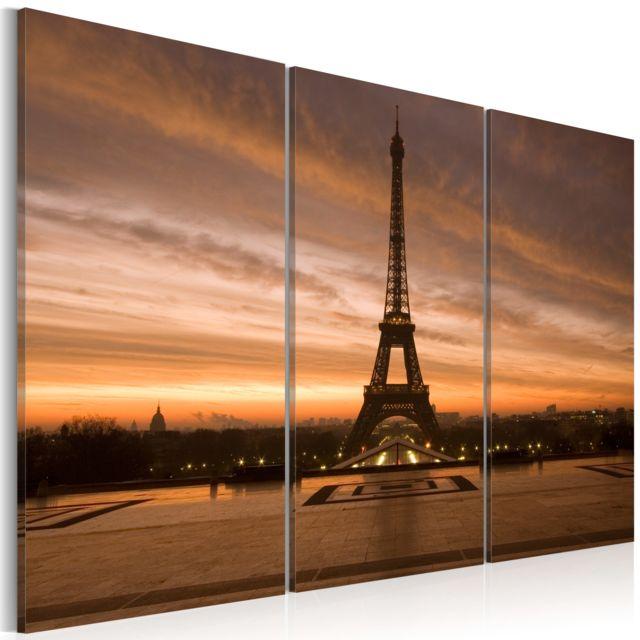 Tableau   Coucher de soleil sur la tour Eiffel   60x40
