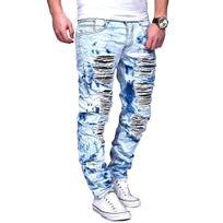Justing - Jeans homme clair destroy Jeans 1125 bleu