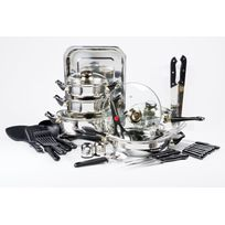 MARQUE GENERIQUE - Batterie de cuisine - 42 pièces - Inox - 10372