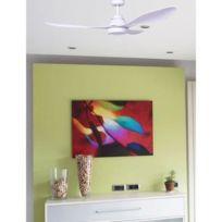 Faro - Ventilateur de plafond Polaris 132cm Blanc Led