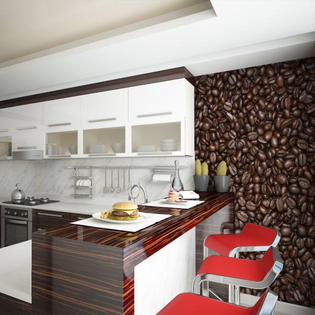 Bimago Papier Peint Grains De Cafe 400x309 Motifs De