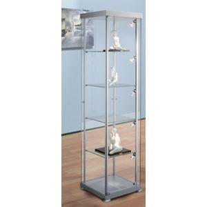 kerkmann vitrine exposition en verre colonne carr e h verre et aluminium pas. Black Bedroom Furniture Sets. Home Design Ideas