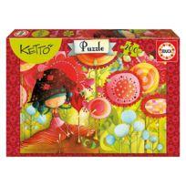 Educa - Puzzle 200 pièces : La jungle des fleurs, Ketto