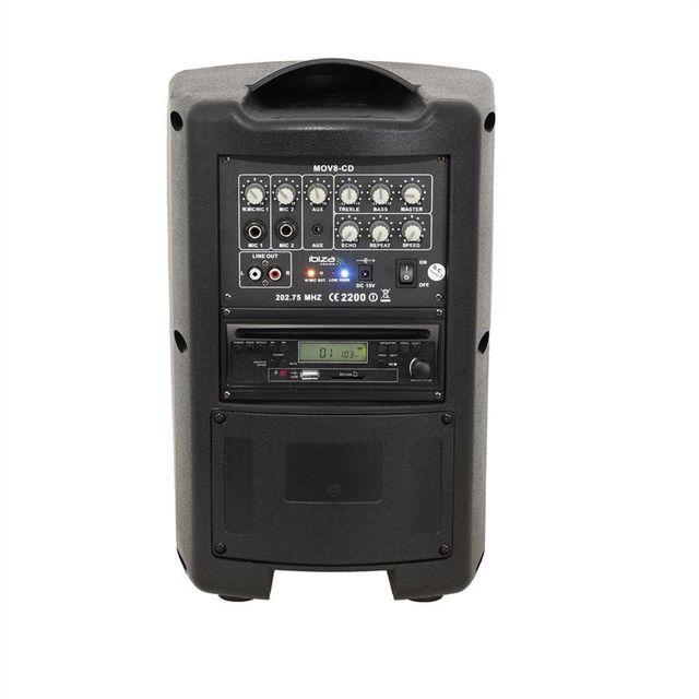 ibiza mov8 cd sono portable amplificateur 150w lecteur cd usb sd bluetooth vhf a pas cher. Black Bedroom Furniture Sets. Home Design Ideas