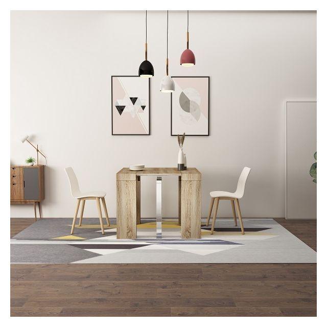 Zehra papier décor extensible Table Oak console 250cm chêne hCQtdrs